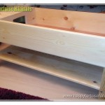 Beautiful wooden tortoise table on legs with shelf underneath