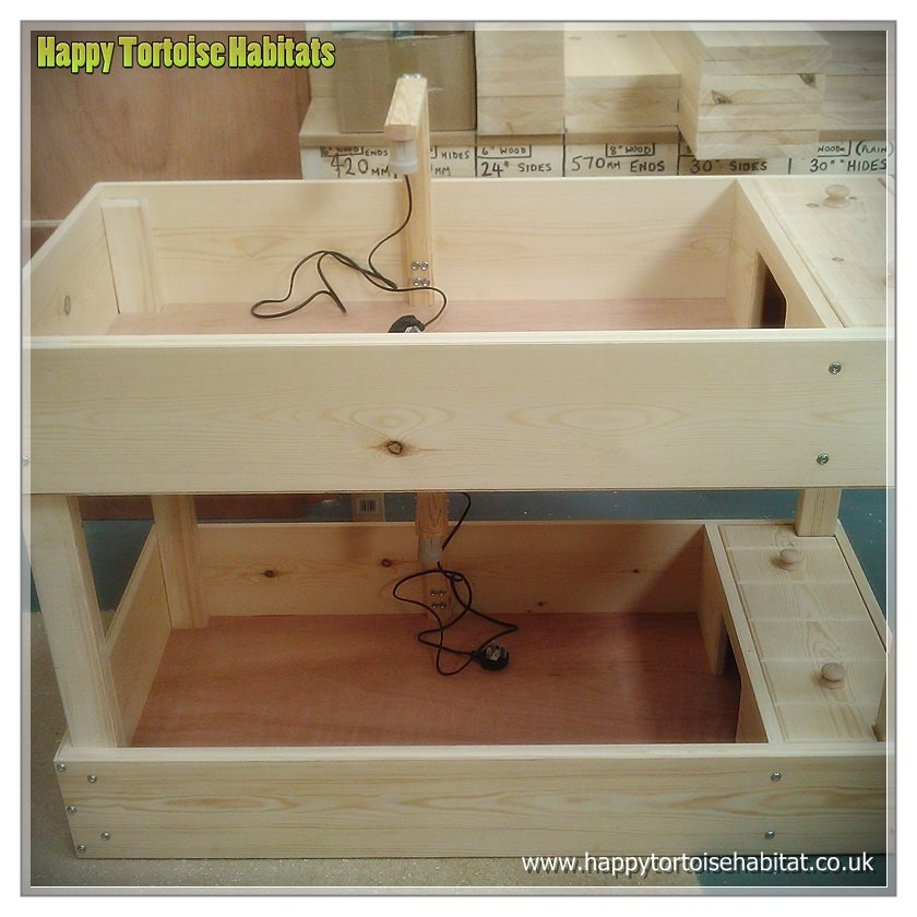 Home / Tortoise Tables / Duplex Tortoise Table | 48″ x 24″ x 8″