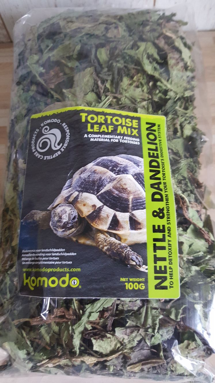 Komodo Tortoise Leaf Complementary Food 100g