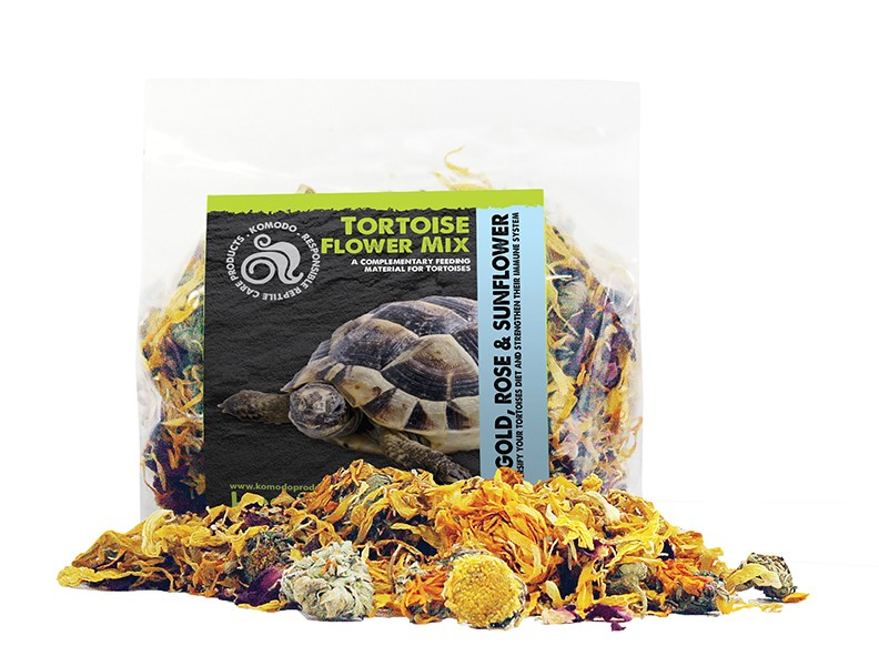 marigold flowers, rose and sunflower petals for tortoise health